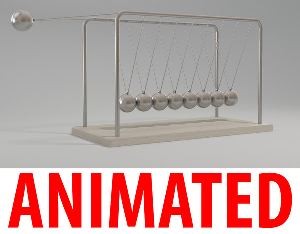 3d model newton cradle