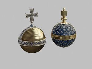 3d model royal scepters