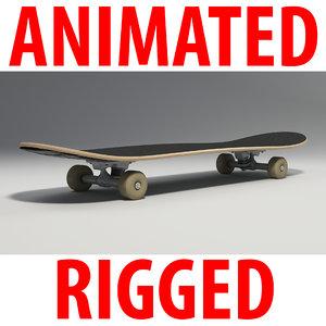 3d model of skate skateboard