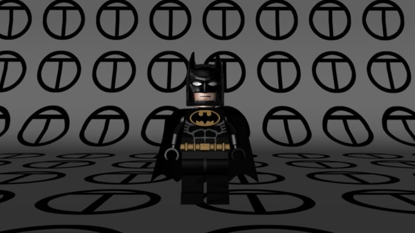 lego batman 1989 film 3d model
