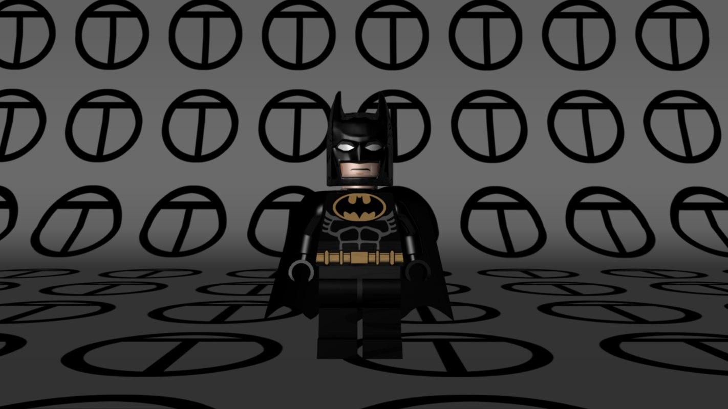 lego batman 1989 film 3d model