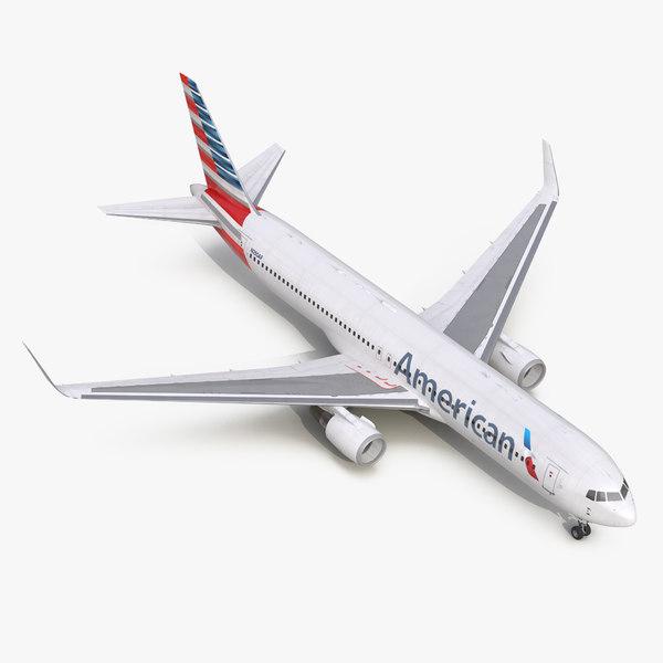 3d model of boeing 767-300er american airlines