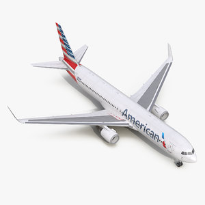 3d model of boeing 767-300er american airlines