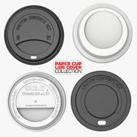 3d model paper cup lids cover
