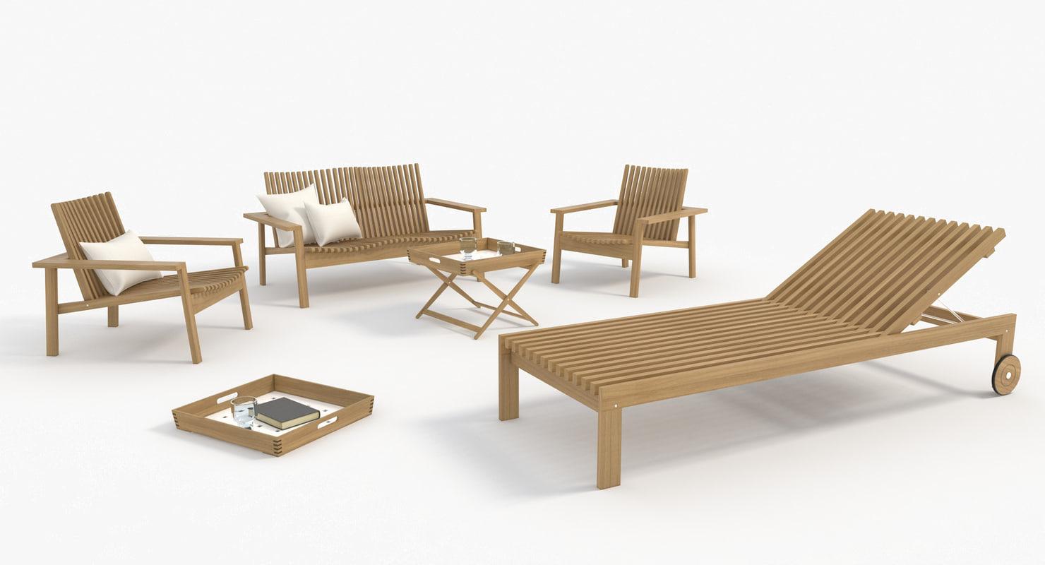 garden furniture 3d model - Garden Furniture 3d