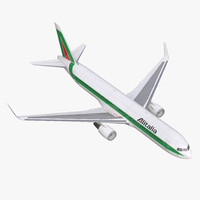 3d model boeing 767-300er alitalia rigged