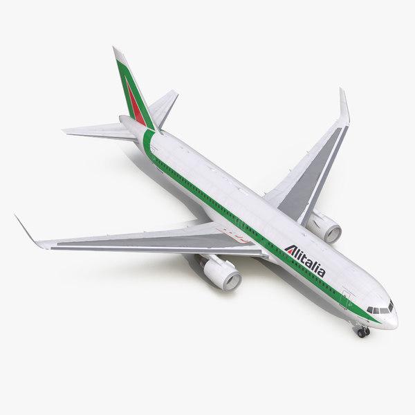 3d boeing 767-300er alitalia