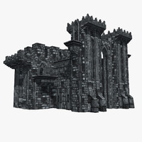 fantasy castle black watch 3d model