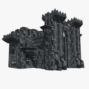 fantasy castle black watch 3d model