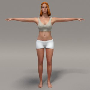 3d sport girl model