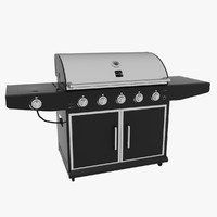 3d kenmore barbecue modeled