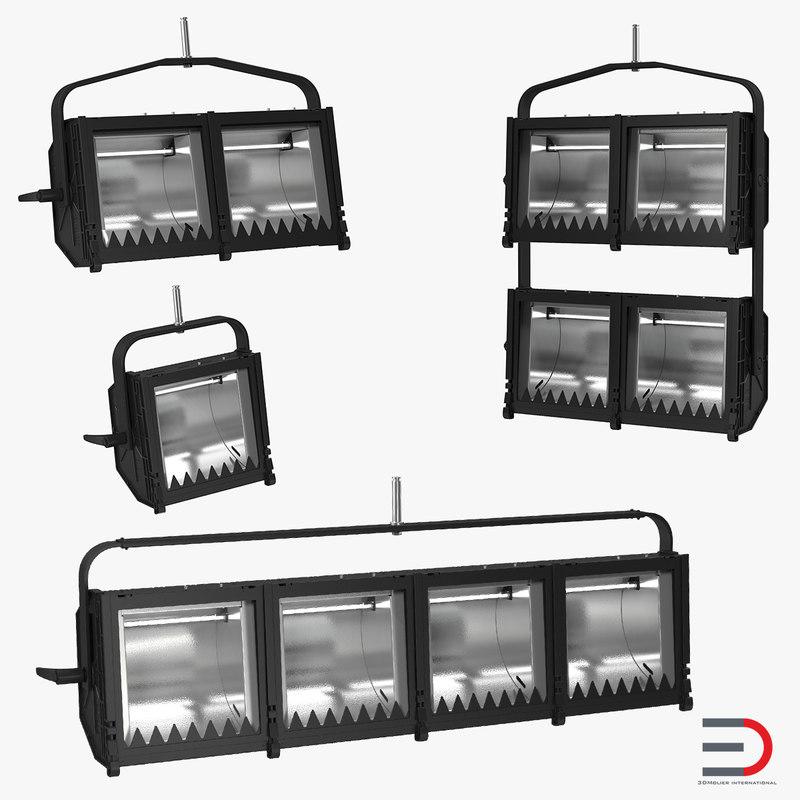 3d model cyc flood lights