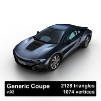 3d generic coupe model