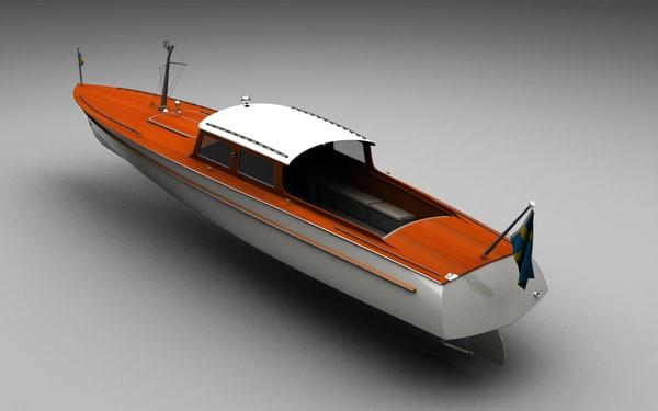 long tender boat 3d model