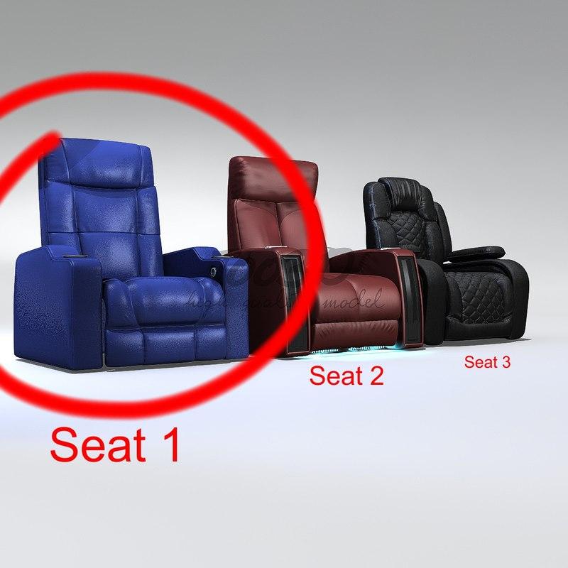 1 seat 3d c4d
