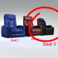 3d model of seat black
