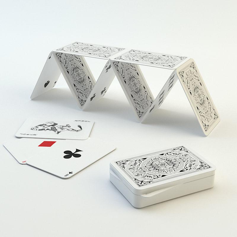 3d casino cards model