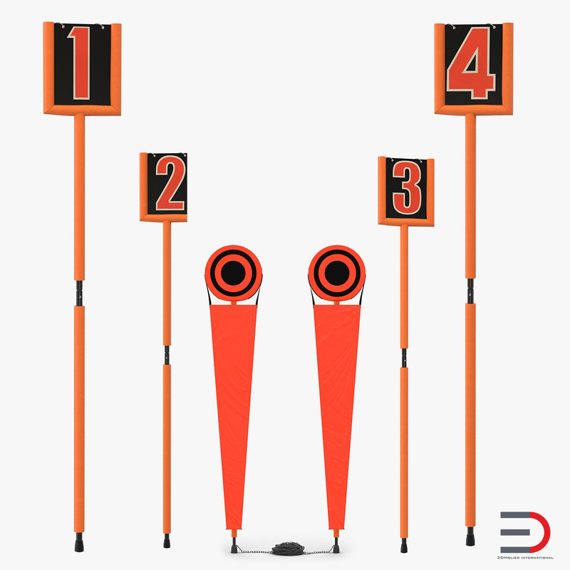 american football markers obj