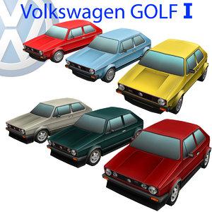 volkswagen golf 1 car 3d max
