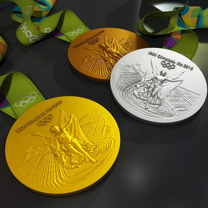 rio 2016 olympic medal 3d model