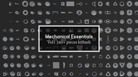 Mechanical Essentials Kitbash Vol1 340 pieces