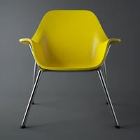 3d plastic yellow black model