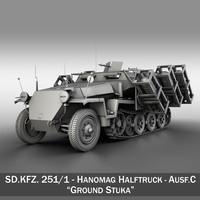 SD.KFZ 251/1 Ausf.C - Walking Stuka