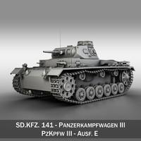 3d sd kfz 141 pzkpfw model