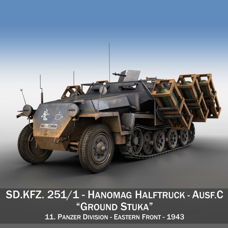 sd kfz 251 1 3d model