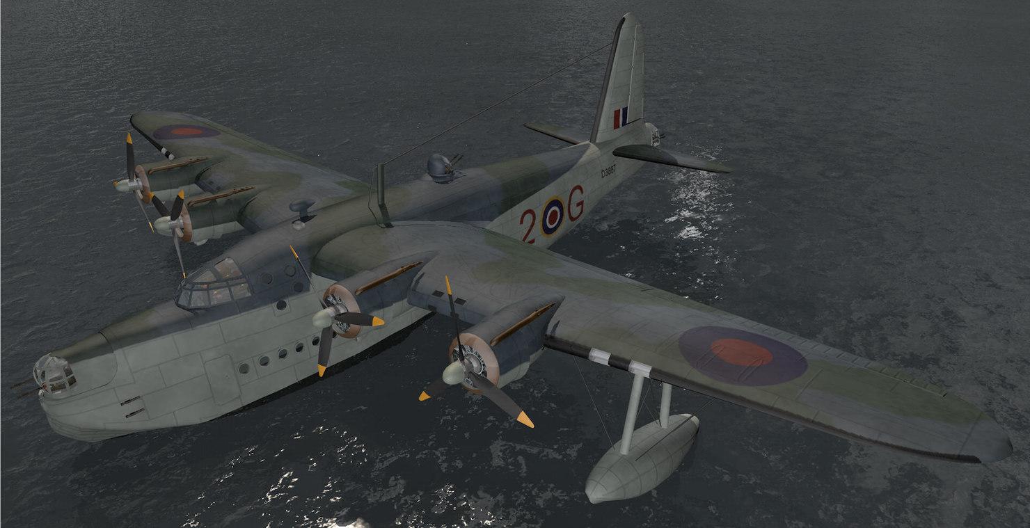 short sunderland mk-3 3d 3ds