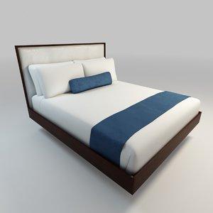 3d model floating bed