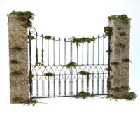 3d old worn gate
