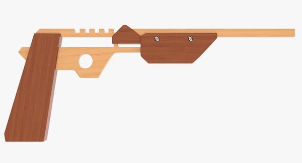 rubber band gun 3d model
