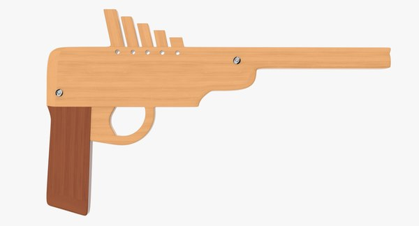 3d rubber band gun