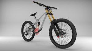 3d mountain bike dh model