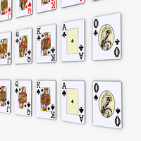 deck poker cards pocker 3d model