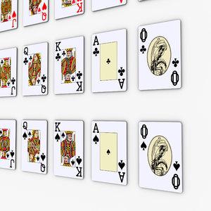 deck poker cards pocker 3d model