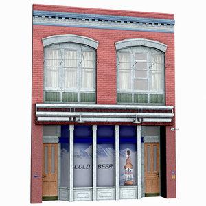 facade low-poly building 3d max