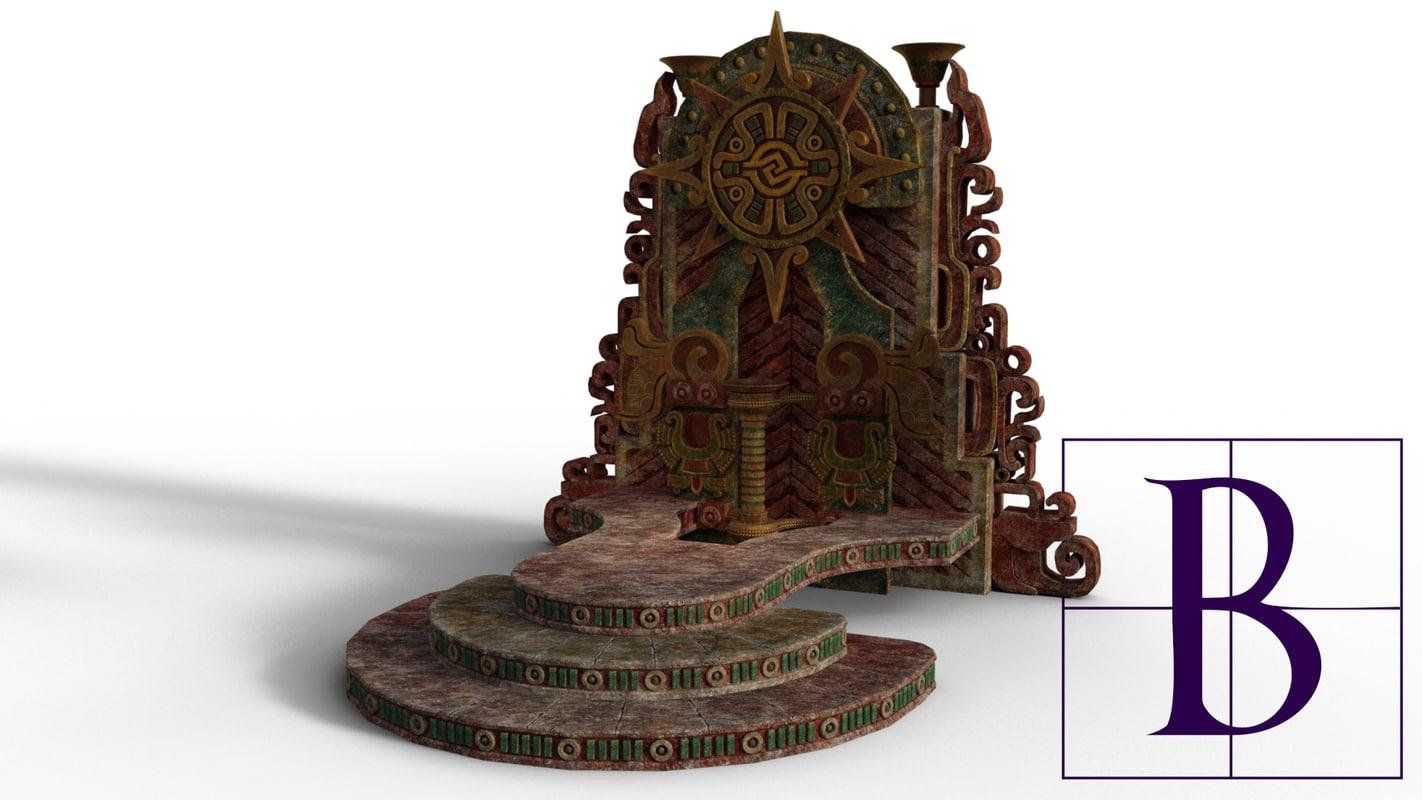 3d model mayan shrine