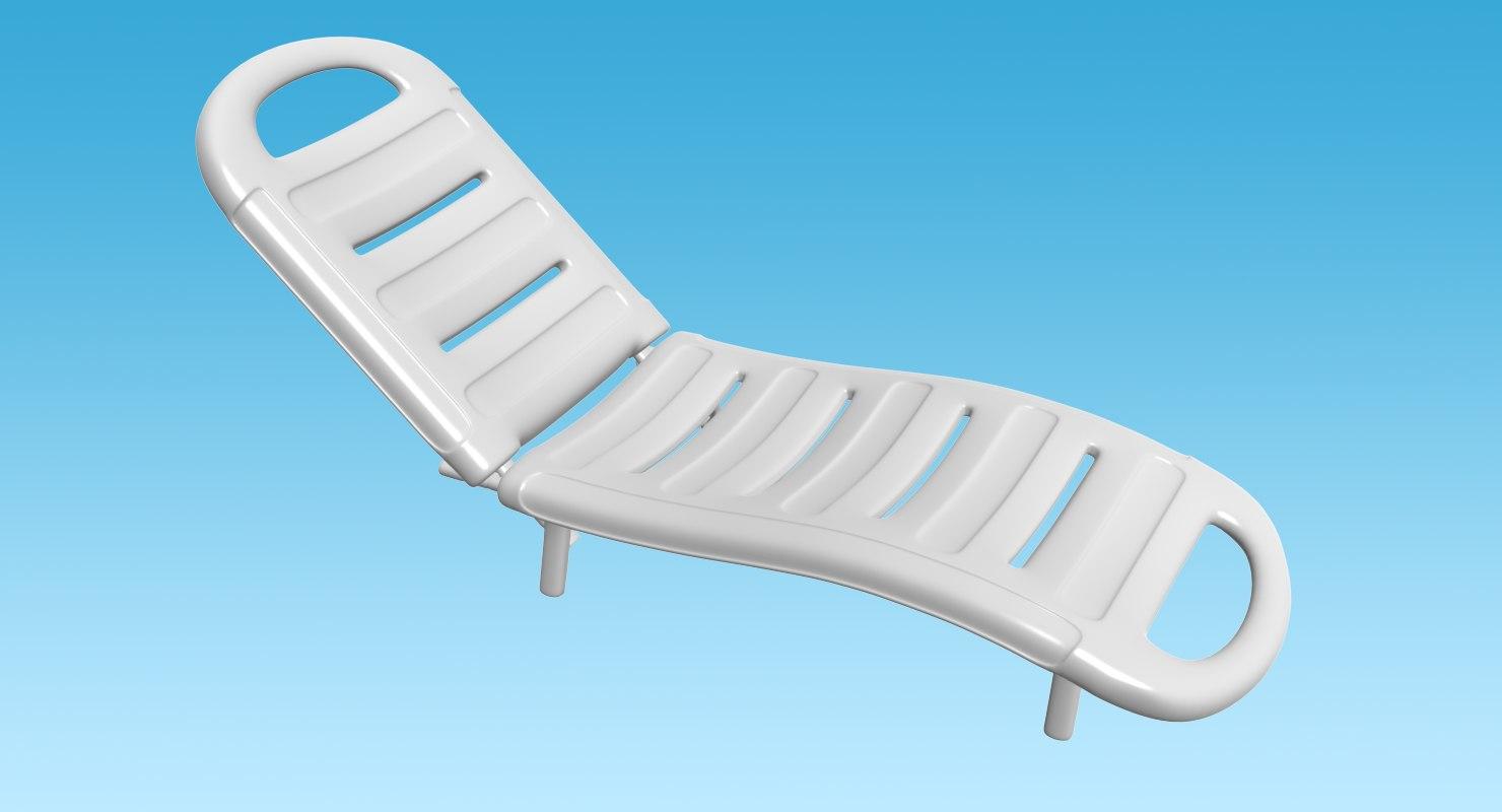 plastic sun lounger 3d max