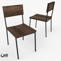3d rustic dining chair west