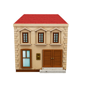 3d model cartoon houses