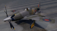 martin-baker mb5 fighter aircraft 3ds