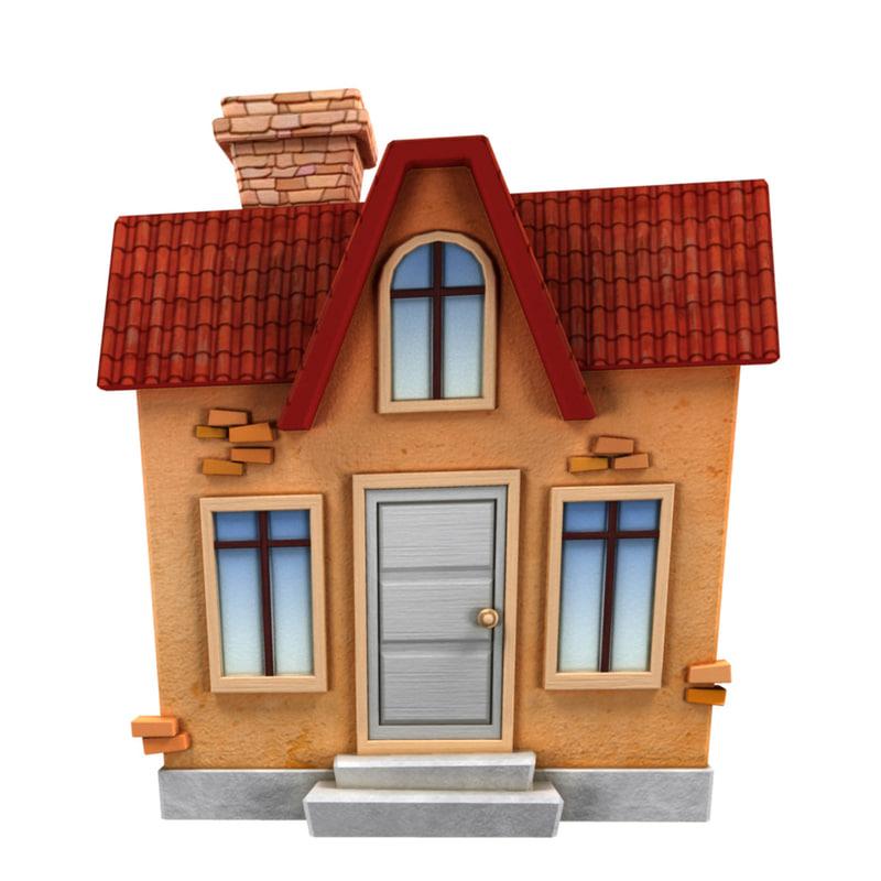 3d cartoon buildings model