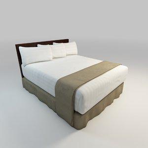 3d bed skirt model