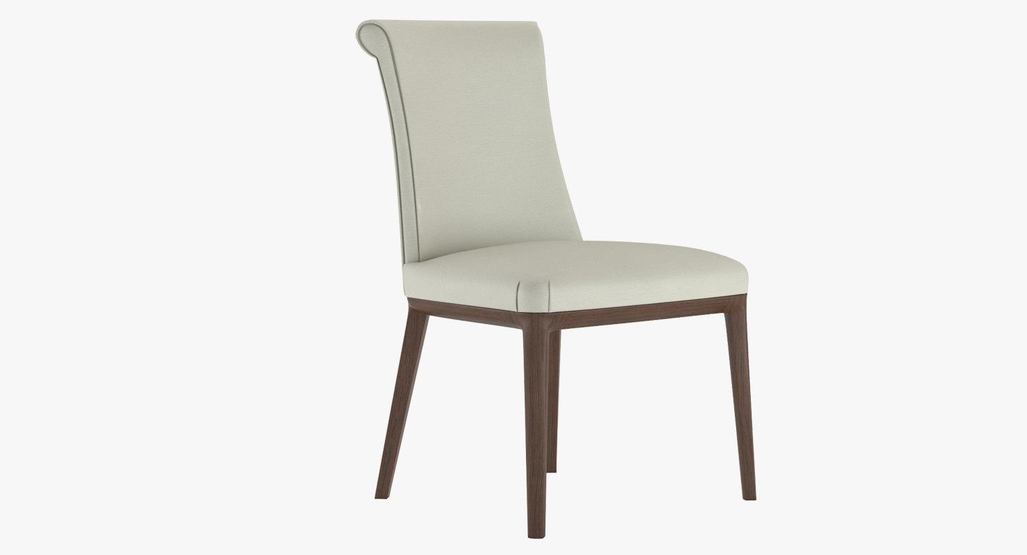 3d model chair diva poltrona frau