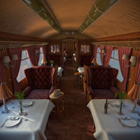 Old Luxury Train Dining Wagon
