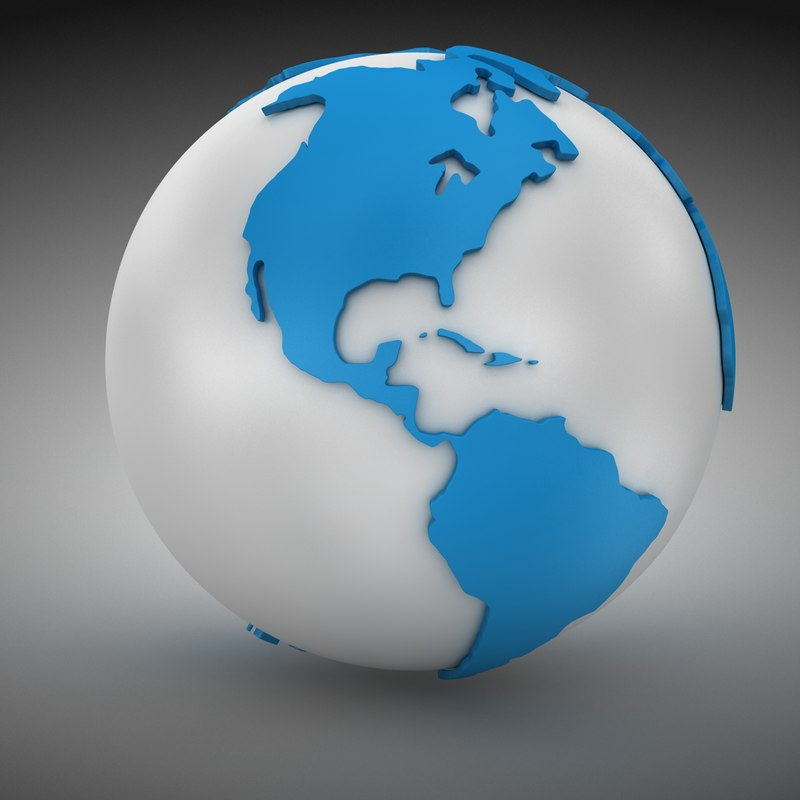 world sphere 3d max