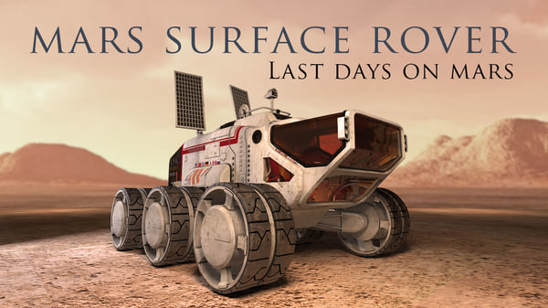 3d mars surface rover