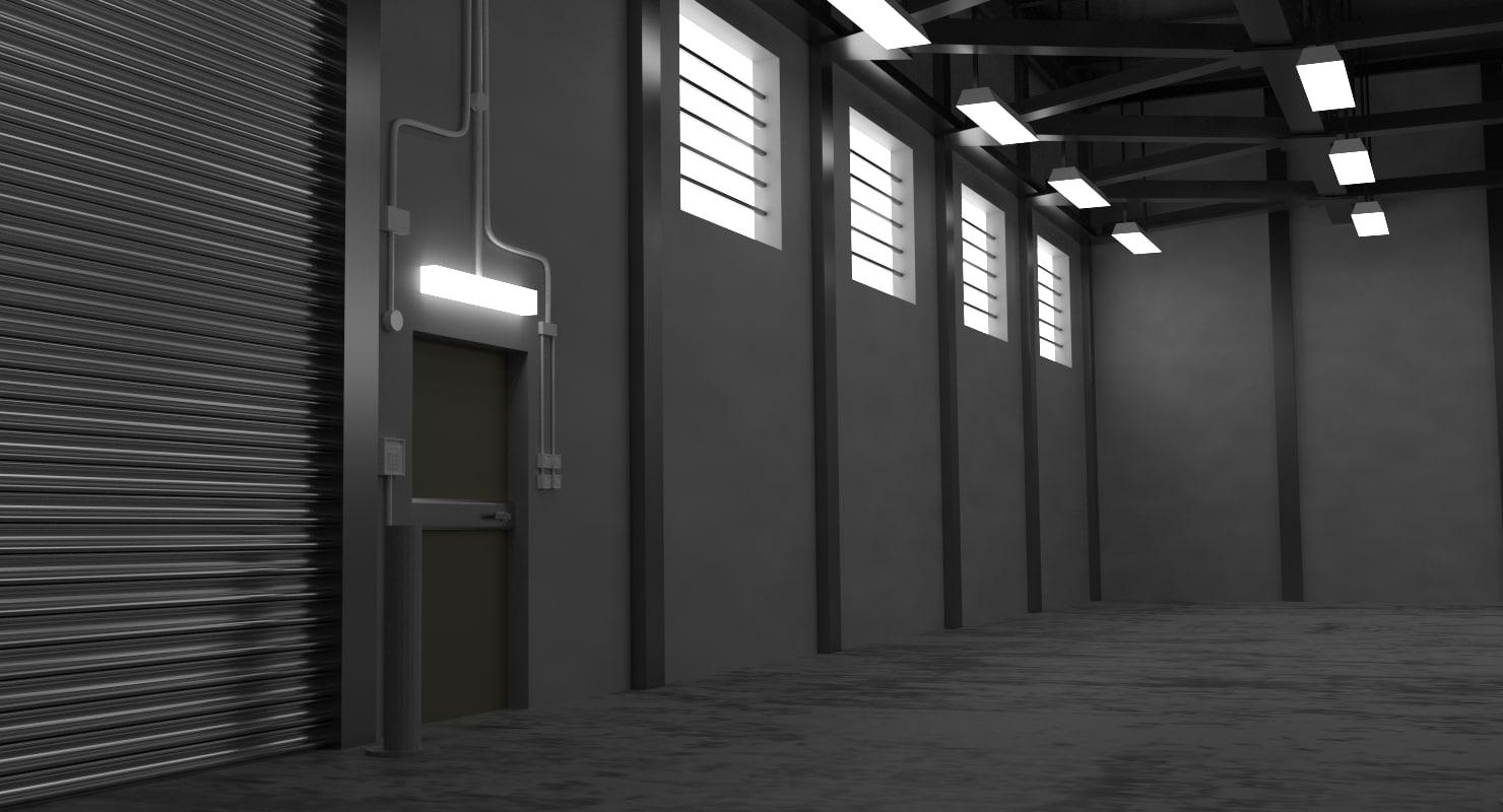 warehouse interior 3d 3ds
